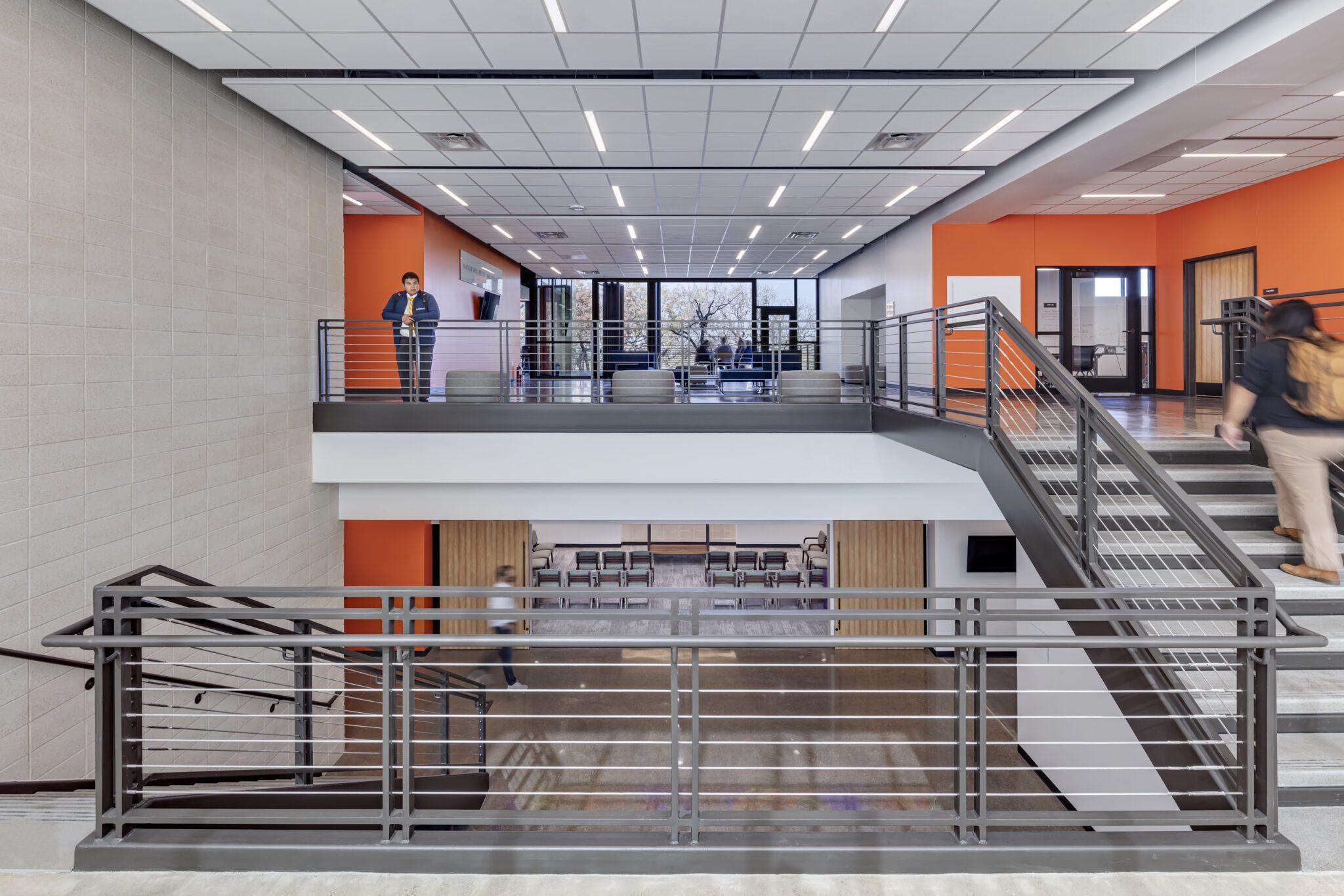 Cristo Rey Dallas Innovation Center, Stairwell