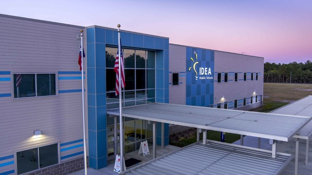 IDEA Spears, Exterior at Dusk