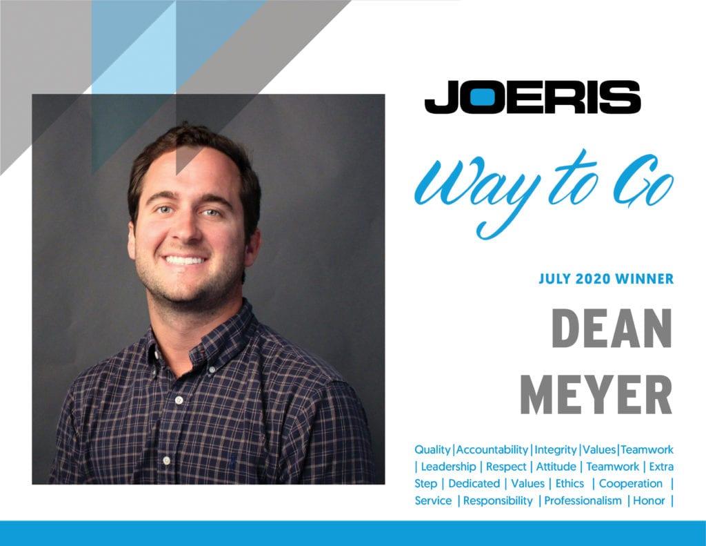 Dean Meyer Joeris Way to Go July 2020