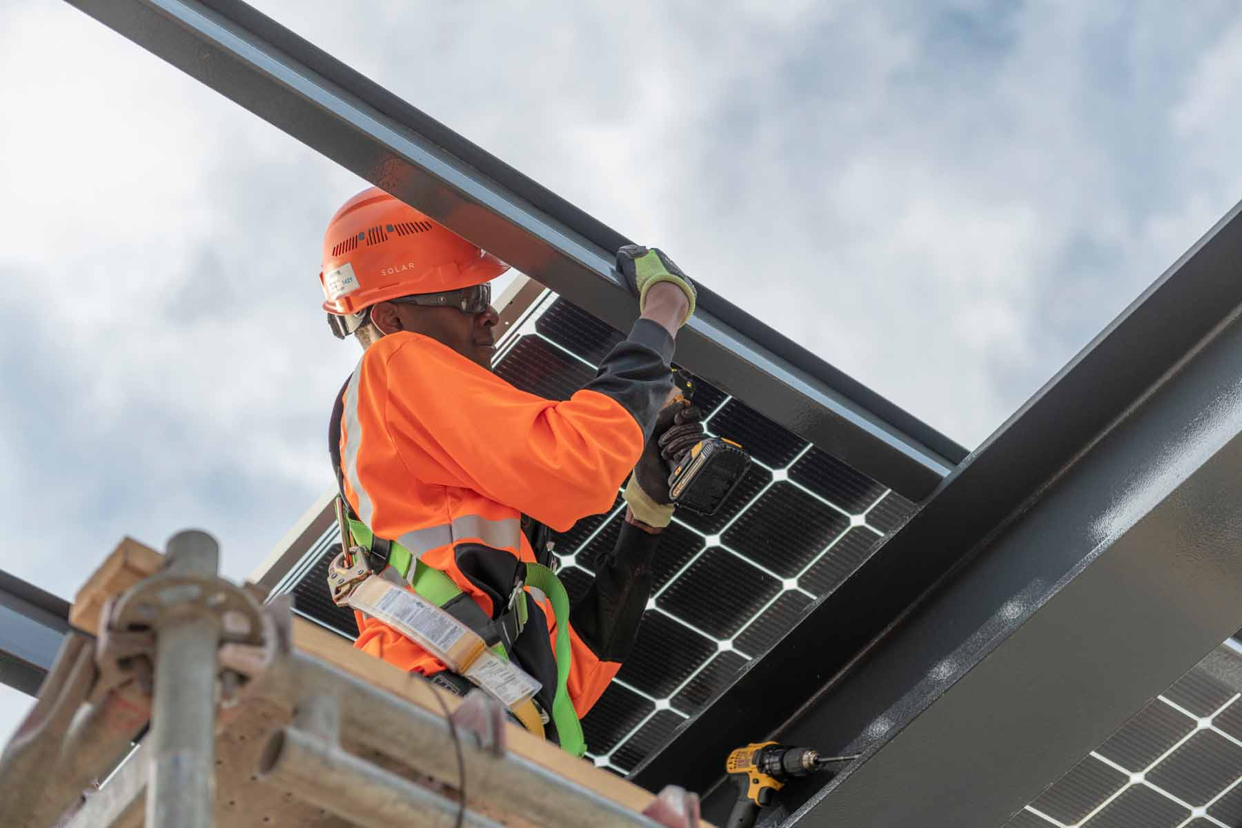 Solar Array Install Broadway Office Development