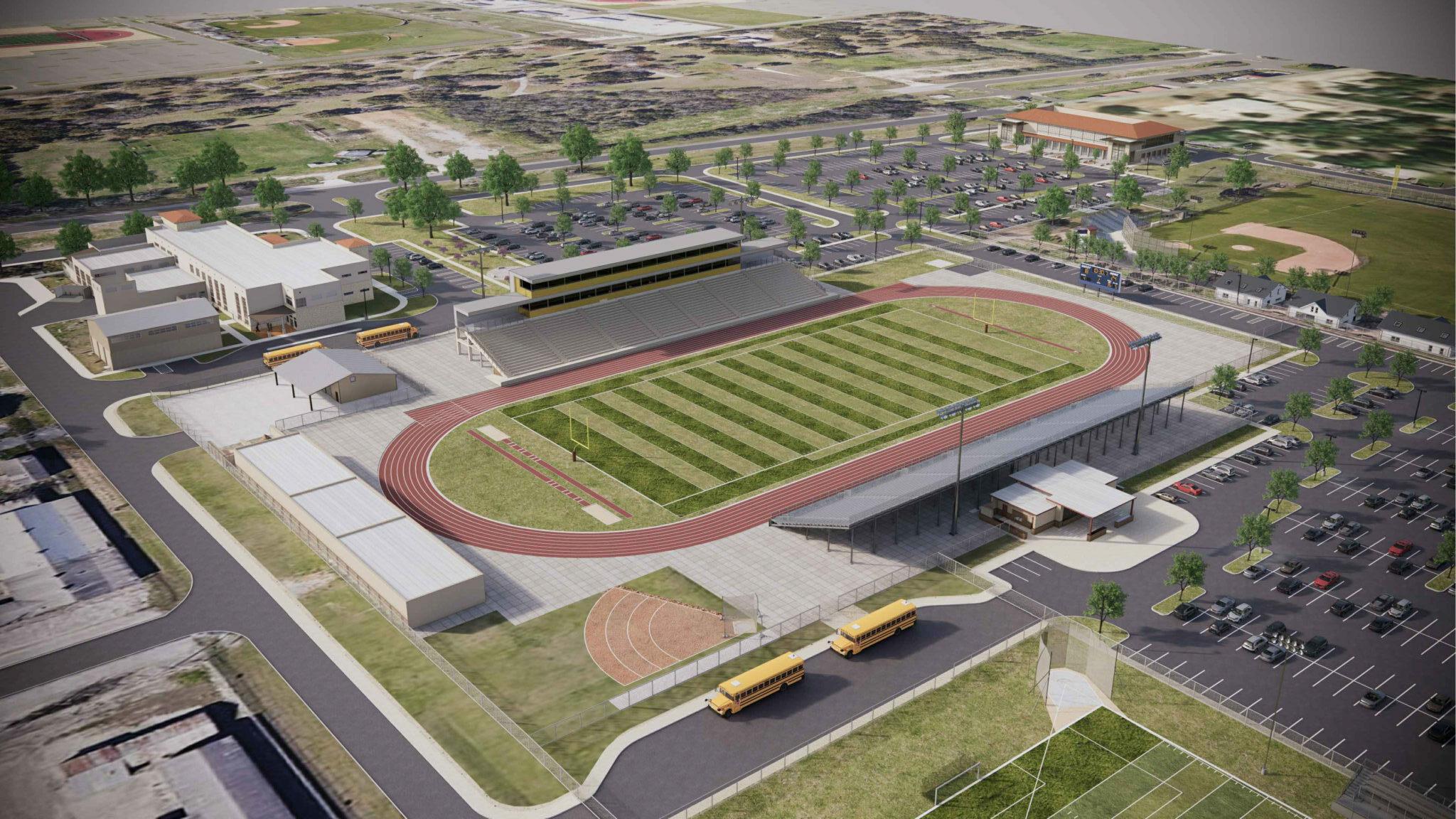 Harlandale ISD Renovations Stadium Rendering